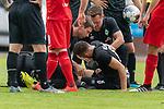 20.07.2019, Heinz Detmar Stadion, Lohne, Interwetten Cup 1. FC Köln vs SV Werder Bremen<br /> <br /> im Bild / picture shows <br /> <br /> Kevin Möhwald / Moehwald (Werder Bremen #06) wird behalndelt nach einem ZUsammenprall<br /> Verletzung / verletzt / Schmerzen<br /> Foto © nordphoto / Kokenge
