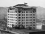 Pittsburgh PA:  View of the Bessemer Building under construction from the Empire Building