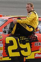 May 4, 2007; Richmond, VA, USA; Nascar Nextel Cup Series driver Kevin Harvick (29) during qualifying for the Jim Stewart 400 at Richmond International Raceway. Mandatory Credit: Mark J. Rebilas