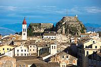 Kerkyra, Corfu Town, Agios Spyridon church, Old Fort - The Paleo Frourio in Corfu, , Greece