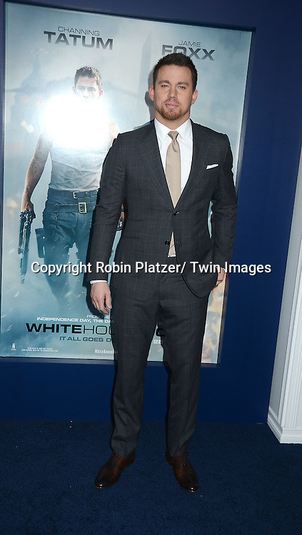 Channing Tatum attends the Domestic Premiere of &quot;White House Down&quot;<br /> on June 25, 2013 at the Ziegfeld Theatre in New York City. The movie stars Channing Tatum and Jamie Foxx and Maggie Gyllenhaal.