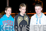 Fintan O'Connor and Karl Daly, Knochnagree and Shane Cronin, Gneeveguilla enjoying the Rathmore Churches Development Night at the Dogs at Kingdom Greyhound Stadium on Saturday..   Copyright Kerry's Eye 2008