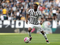 Calcio, Serie A: Juventus vs Palermo. Torino, Juventus Stadium, 17 aprile 2016.<br /> Juventus&rsquo; Patrice Evra in action during the Italian Serie A football match between Juventus and Palermo at Turin's Juventus Stadium, 17 April 2016.<br /> UPDATE IMAGES PRESS/Isabella Bonotto