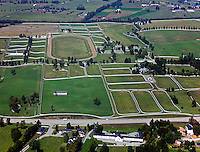 aerial photograph Calumet horse farm Lexington, Kentucky