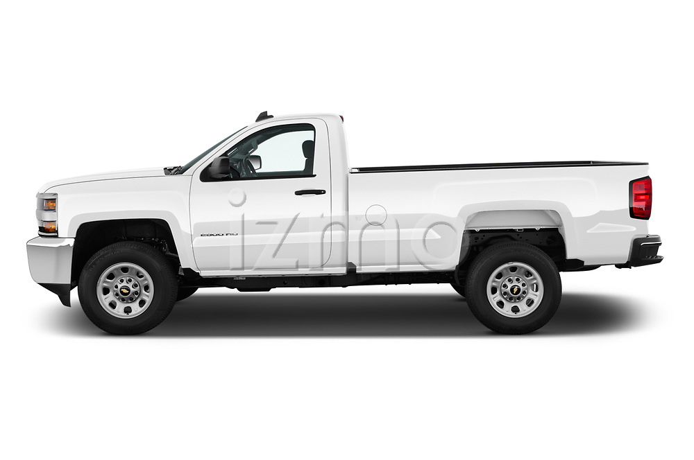 Car driver side profile view of a 2018 Chevrolet Silverado 2500HD Work Truck Regular Cab  2 Door Pick Up