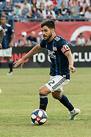 FOXBOROUGH, MA - JULY 27:  Carles Gil #22 dribbles the ball at Gillette Stadium on July 27, 2019 in Foxborough, Massachusetts.