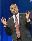 Former neurosurgeon Ben Carson, a former candidate for the Republican Party nomination for President of the United States, speaks at the Conservative Political Action Conference (CPAC) at the Gaylord National Resort and Convention Center in National Harbor, Maryland on Friday, March 4, 2016.<br /> Credit: Ron Sachs / CNP