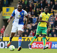 Blackburn Rovers' Hope Akpan in action during<br /> <br /> Photographer David Shipman/CameraSport<br /> <br /> The EFL Sky Bet Championship - Norwich City v Blackburn Rovers - Saturday 11th March 2017 - Carrow Road - Norwich<br /> <br /> World Copyright &copy; 2017 CameraSport. All rights reserved. 43 Linden Ave. Countesthorpe. Leicester. England. LE8 5PG - Tel: +44 (0) 116 277 4147 - admin@camerasport.com - www.camerasport.com
