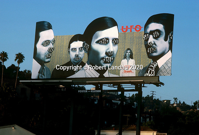 UFO billboard on the Sunset Strip 1978