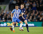 Anthony Kockaert of Brighton and Jan Vertonghen of Tottenham during the premier league match at the Amex Stadium, London. Picture date 17th April 2018. Picture credit should read: David Klein/Sportimage