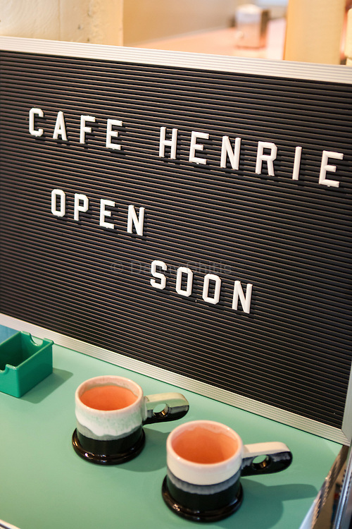 André Saraiva's new Cafe Henri  in Chinatown. The ceramics are by artist Peter Shire.<br /> <br /> Danny Ghitis for The New York Times