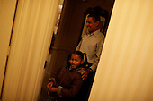 Washington, DC - January 5, 2009 -- United States President-elect Barack and Michelle Obama get their daughters Sasha (7) and Malia (10) ready for their first day of school in Washington, DC. They are staying at the Hay Adams Hotel in Washington, DC.  .Credit: Callie Shell - Obama Transition Office via CNP
