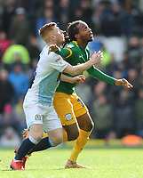 Blackburn Rovers' Harrison Reed (left) battles with Preston North End's Daniel Johnson<br /> <br /> Photographer Rich Linley/CameraSport<br /> <br /> The EFL Sky Bet Championship - Blackburn Rovers v Preston North End - Saturday 9th March 2019 - Ewood Park - Blackburn<br /> <br /> World Copyright © 2019 CameraSport. All rights reserved. 43 Linden Ave. Countesthorpe. Leicester. England. LE8 5PG - Tel: +44 (0) 116 277 4147 - admin@camerasport.com - www.camerasport.com