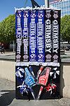 Grimsby Town and Bristol Rovers merchandise ahead of the 2015 Vanarama Conference Promotion Final match between Grimsby Town and Bristol Rovers at Wembley Stadium, London<br /> Picture by David Horn/eXtreme aperture photography +44 7545 970036<br /> 17/05/2015