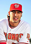 28 February 2010: Washington Nationals shortstop Mike Morse poses for his Spring Training photo at Space Coast Stadium in Viera, Florida. Mandatory Credit: Ed Wolfstein Photo