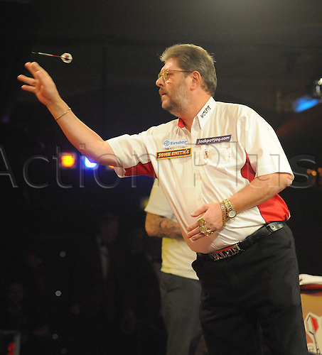 06.01.2011 Day Six of the World Professional Darts Championships from Lakeside. Mens quarter finals day. Reigning champion Martin Wolfie Adams in his quarter final against Ross Smith