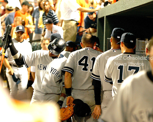 Baltimore, MD - June 27, 2007 -- New York Yankee players leave the dug-out following their 4 - 0 loss to the Baltimore Orioles at Oriole Park at Camden Yards in Baltimore, MD on Wednesday, June 27, 2007..Credit: Ron Sachs / CNP.(RESTRICTION: NO New York or New Jersey Newspapers or newspapers within a 75 mile radius of New York City)