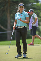 Brooke M. Henderson (CAN) sinks her par putt on 10 during round 4 of the 2018 KPMG Women's PGA Championship, Kemper Lakes Golf Club, at Kildeer, Illinois, USA. 7/1/2018.<br /> Picture: Golffile | Ken Murray<br /> <br /> All photo usage must carry mandatory copyright credit (&copy; Golffile | Ken Murray)
