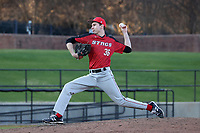 GREENSBORO, NC - FEBRUARY 25: Jason Hebner #36 of Fairfield University throws a pitch during a game between Fairfield and UNC Greensboro at UNCG Baseball Stadium on February 25, 2020 in Greensboro, North Carolina.