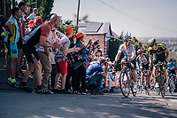 peloton up the Mur de Huy<br /> <br /> 82nd Fl&egrave;che Wallonne 2018 (1.UWT)<br /> 1 Day Race: Seraing - Huy (198km)