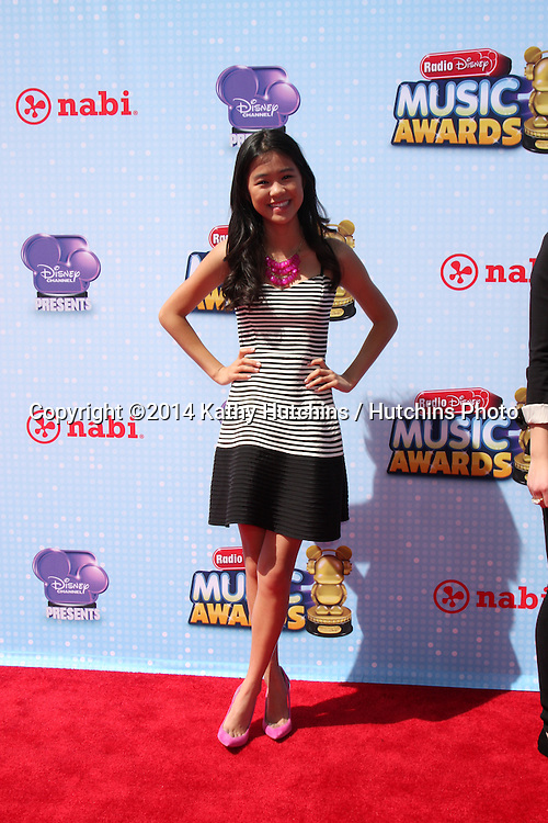 LOS ANGELES - APR 26:  Tiffani Espensen at the 2014 Radio Disney Music Awards at Nokia Theater on April 26, 2014 in Los Angeles, CA
