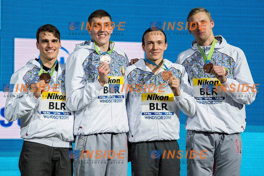Belarus BLR Bronze Medal<br /> Men's 4x50m Medley Relay<br /> 13th Fina World Swimming Championships 25m <br /> Windsor  Dec. 10th, 2016 - Day05 Final<br /> WFCU Centre - Windsor Ontario Canada CAN <br /> 20161210 WFCU Centre - Windsor Ontario Canada CAN <br /> Photo &copy; Giorgio Scala/Deepbluemedia/Insidefoto