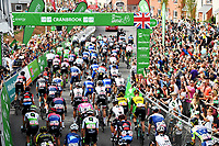Picture by Simon Wilkinson/SWpix.com - 03/09/2018 - Cycling - OVO Energy Tour of Britain 2018 -  Stage 2 Cranbrook to Barnstaple - The roll out at Cranbrook , fans, crowd