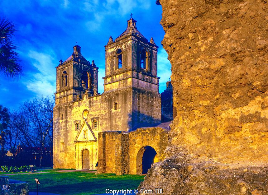 Mission Concepcion, San Antonio Missions Nationsl Histoiric Park, Texas  Historic Spanish mission