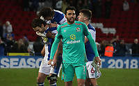 Blackburn Rovers' David Raya celebrate todays win at the end of todays match<br /> <br /> <br /> Photographer Rachel Holborn/CameraSport<br /> <br /> The EFL Sky Bet League One - Blackburn Rovers v Shrewsbury Town - Saturday 13th January 2018 - Ewood Park - Blackburn<br /> <br /> World Copyright &copy; 2018 CameraSport. All rights reserved. 43 Linden Ave. Countesthorpe. Leicester. England. LE8 5PG - Tel: +44 (0) 116 277 4147 - admin@camerasport.com - www.camerasport.com
