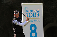 Rasmus Hojgaard (DEN) on the 8th tee during Round 2 of the Challenge Tour Grand Final 2019 at Club de Golf Alcanada, Port d'Alcúdia, Mallorca, Spain on Friday 8th November 2019.<br /> Picture:  Thos Caffrey / Golffile<br /> <br /> All photo usage must carry mandatory copyright credit (© Golffile | Thos Caffrey)