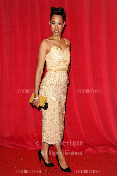 Rebecca Scroggs arriving for the 2014 British Soap Awards, at the Hackney Empire, London. 24/05/2014 Picture by: Steve Vas / Featureflash
