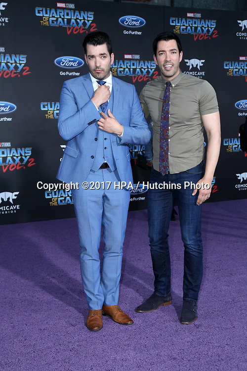 """LOS ANGELES - APR 19:  Drew Scott, Jonathan Scott at the """"Guardians of the Galaxy Vol. 2"""" Los Angeles Premiere at the Dolby Theater on April 19, 2017 in Los Angeles, CA"""