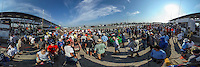 The crowded grid before the 12 Hours of Sebring IMSA WeatherTech Series race, Sebring International Raceway, Sebring , FL, March 2016.  360 degree panoramic scene photographed with a 360 degree camera.  (Photo by Brian Cleary/ www.bcpix.com)