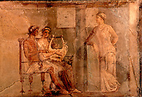 Roman Art:  The Music Lesson--Roman wall painting from Herculaneum, 1st century A.D.  Trustees of the British Museum.