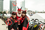 Didi the Devil is popular during the Tour de France Saitama Crit&eacute;rium 2017 held around the streets os Saitama, Japan. 4th November 2017.<br /> Picture: ASO/Pauline Ballet | Cyclefile<br /> <br /> <br /> All photos usage must carry mandatory copyright credit (&copy; Cyclefile | ASO/Pauline Ballet)