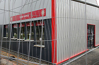 The new ticket office at the North West corner of the ground still under construction before Stevenage vs Exeter City, Sky Bet EFL League 2 Football at the Lamex Stadium on 10th August 2019