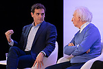 "(LtoR) President of citizen Albert Rivera and dramatist Albert Boadella, during the citizen meeting ""Espana en marcha"". October 24, 2019. (ALTERPHOTOS/Johana Hernandez)"