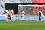 Rayo Vallecano´s Gael Kakuta celebrates a goal during 2014-15 La Liga match between Rayo Vallecano and Malaga CF at Rayo Vallecano stadium in Madrid, Spain. March 21, 2015. (ALTERPHOTOS/Luis Fernandez)