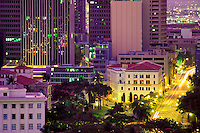 Downtown Honolulu at dusk,Oahu