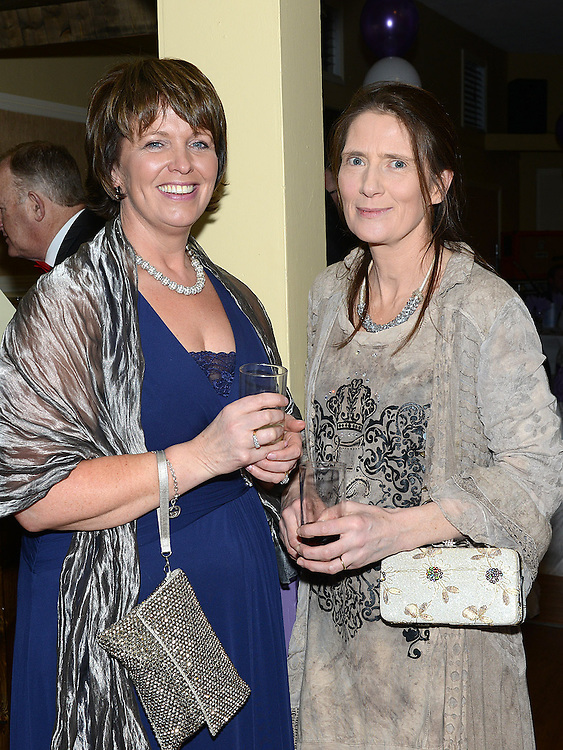 Ann McCabe and Deidre Williams pictured at the Cystic Fibrosis gala ball in the Grove Hotel Dunleer. Photo:Colin Bell/pressphotos.ie