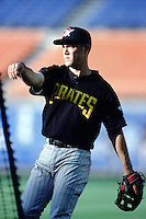 Warren Morris of the Pittsburgh Pirates before a 1999 Major League Baseball season game against the Los Angeles Dodgers in Los Angeles, California. (Larry Goren/Four Seam Images)