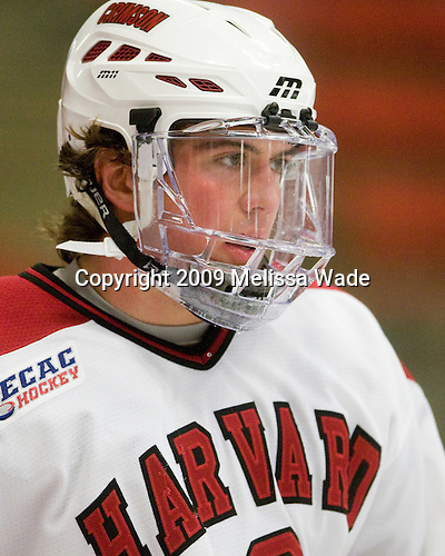 Ryan Grimshaw (Harvard - 6) - The Dartmouth College Big Green defeated the Harvard University Crimson 6-2 on Sunday, November 29, 2009, at Bright Hockey Center in Cambridge, Massachusetts.