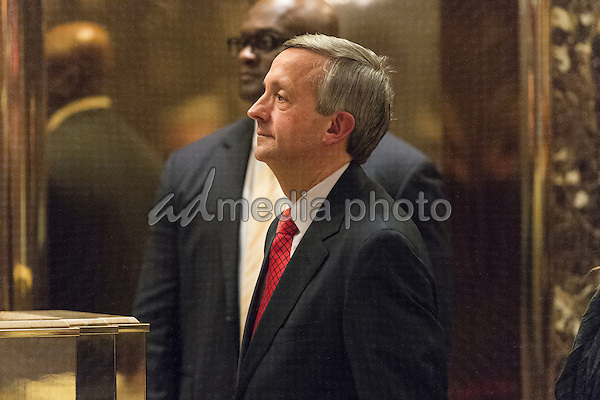 Pastor Robert Jeffress is seen in the lobby of Trump Tower in New York, NY, USA on January 3, 2017. Photo Credit: Albin Lohr-Jones/CNP/AdMedia