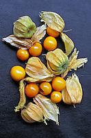 Alimentos. Frutas. Uchuva ( Phisalis). Foto de Manuel Lourenço.