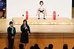 (L to R) Hiromi Miyake, Kanae Yagi, MARCH 5, 2013 : Kanae Yagi Speeachs for IOC evaluation commission member at Tokyo International forum, Tokyo, Japan. The IOC evaluation commission, led by Reedie, began a four-day inspection of Tokyo's bid to host the 2020 Olympics. (Photo by Yusuke Nakanishi/AFLO SPORT)