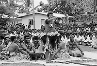Traditional native kava ceremony at tribal gathering in Fiji, South Pacific