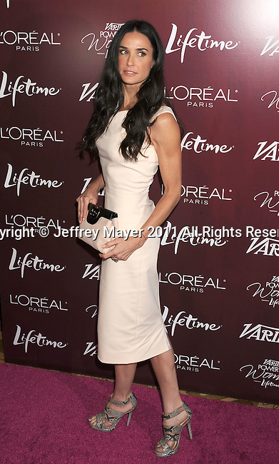 BEVERLY HILLS, CA - SEPTEMBER 23: Demi Moore arrives at the 3rd Annual Variety's Power of Women Event presented by Lifetime at the Beverly Wilshire Four Seasons Hotel September 23, 2011 in Beverly Hills, United States.