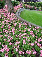 Garden at Empress Hotel. Victoria, B.C. Canada