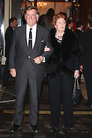 Terry Wogan and wife Helen arriving for the I Can't Sing Press Night, at the Paladium, London. 26/03/2014 Picture by: Alexandra Glen / Featureflash