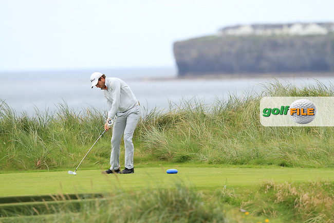 Robert Canon (Balbriggan) on the 4th tee during Round 2 of The South of Ireland in Lahinch Golf Club on Sunday 27th July 2014.<br /> Picture:  Thos Caffrey / www.golffile.ie